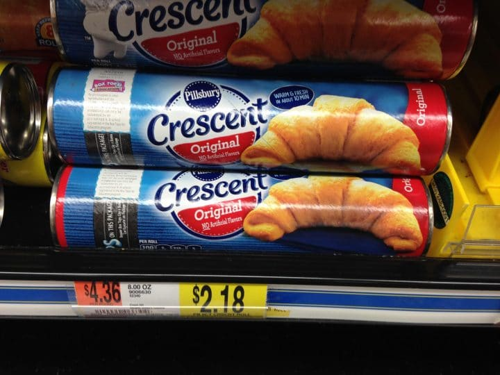 pillsbury crescent rolls on display in the store