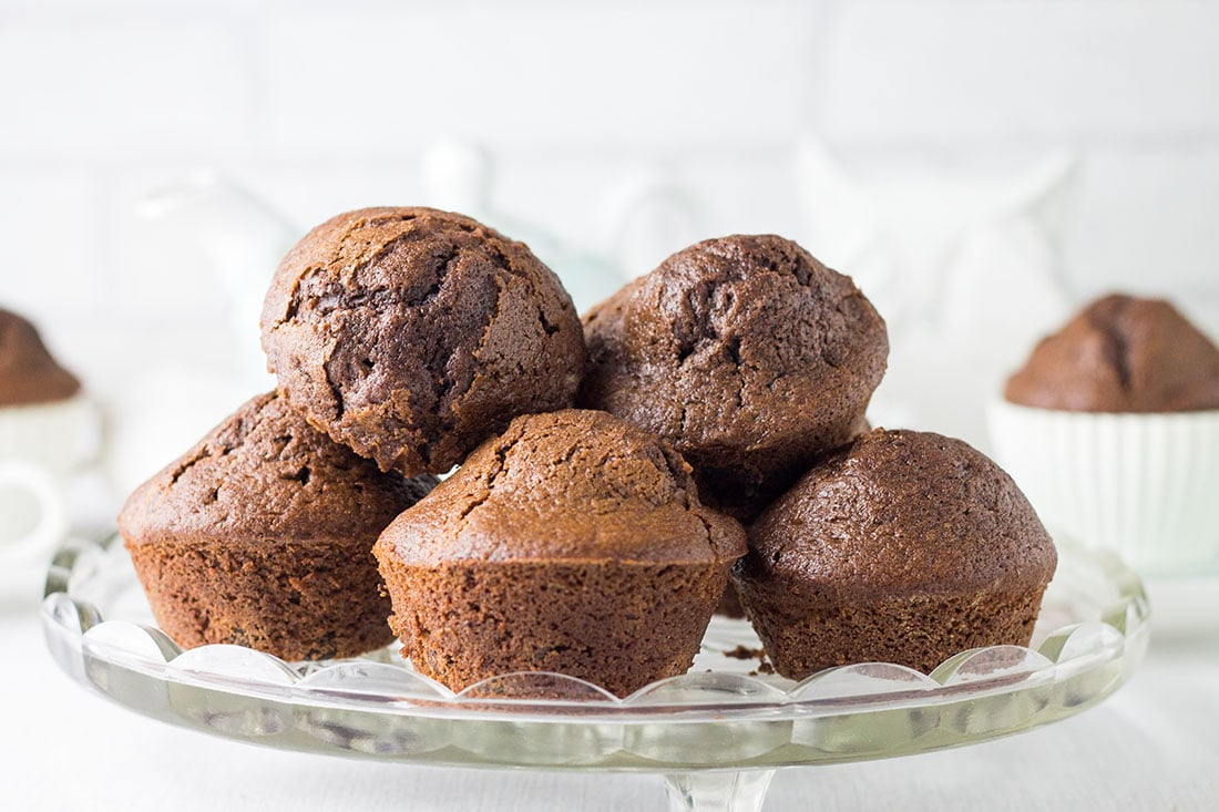 Double Chocolate Chip Muffins - Breakfast just got a whole lot better!