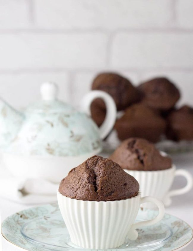 Double Chocolate Chip Muffins - Erren's Kitchen - Chocolate and muffins are two of our favorite things, so what's not to love about this indulgent Double Chocolate Chip Muffins recipe?