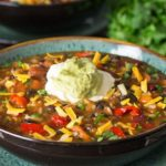 Mexican Rice & Bean Soup
