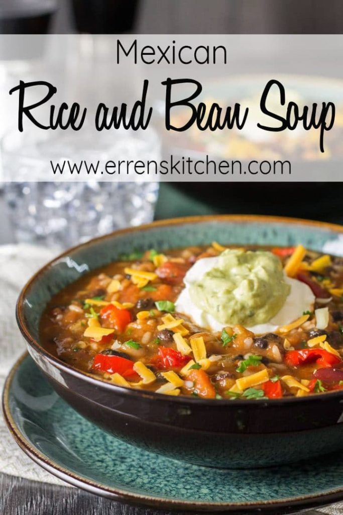 Mexican Rice And Bean Soup Comfort Food At It S Best