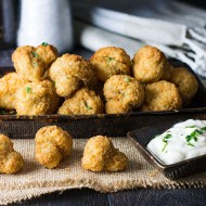 Baked Breaded Garlic Mushrooms
