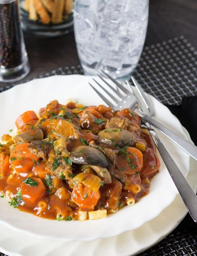 Italian Beef Stew - Erren's Kitchen - This savory recipe makes a delicious, satisfying stew with a rich tomato gravy and meat that just melts in your mouth!