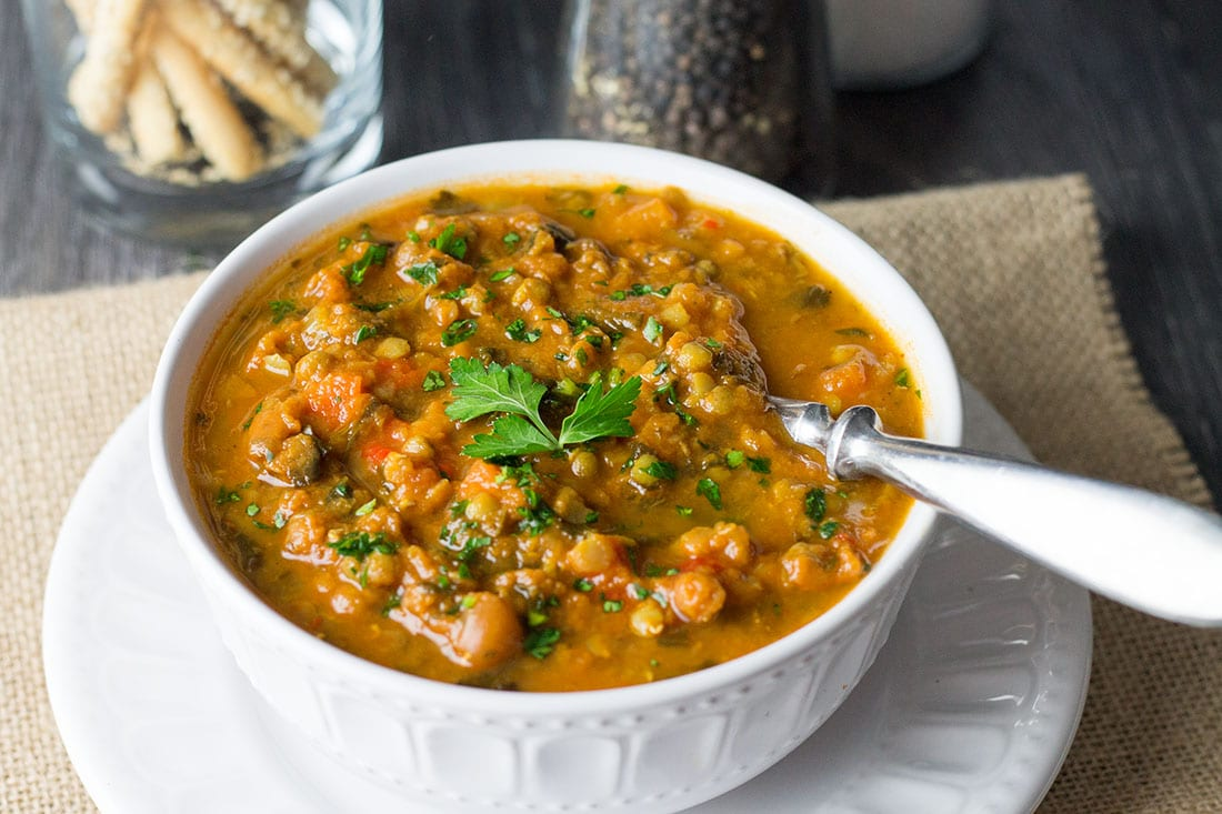 Homemade Lentil Soup - Erren's Kitchen - This recipe is an Italian classic. It's a delicious, warming and budget-friendly vegetarian soup that's perfect for lunch or dinner.