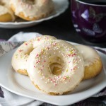 Easy Baked Iced Vanilla Doughnuts - Erren's Kitchen - This recipe makes a much healthier version of a popular treat. They may be baked instead of fried, but taste just as good and they're soft, full of vanilla flavor, and generously topped in a creamy vanilla icing.