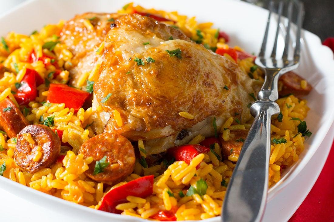 One Pot Chicken & Chorizo Paella - Erren's Kitchen