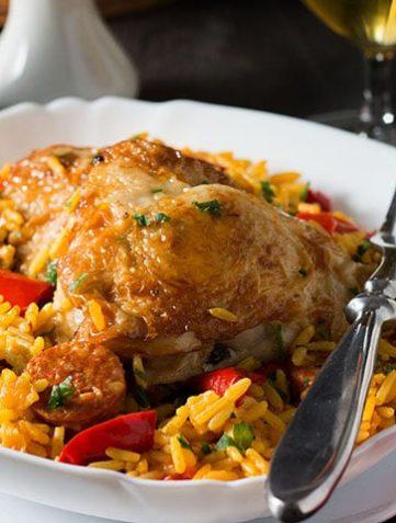 One Pot Chicken & Chorizo Paella
