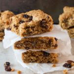 Cinnamon Raisin Oat Bars - Erren's Kitchen - This delightful recipe make a cookie bar that's crisp on the outside with a buttery soft center. A sweet treat for dessert or just a snack.