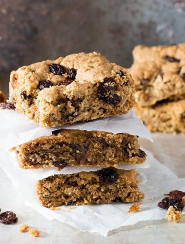 Cinnamon Raisin Oat Bars