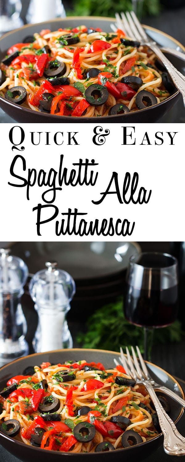 Spaghetti Alla Puttanesca - Erren's Kitchen - This recipe is a quick and easy pasta dish for all the family that uses items you can keep in your pantry so it's easily whipped up in a pinch.