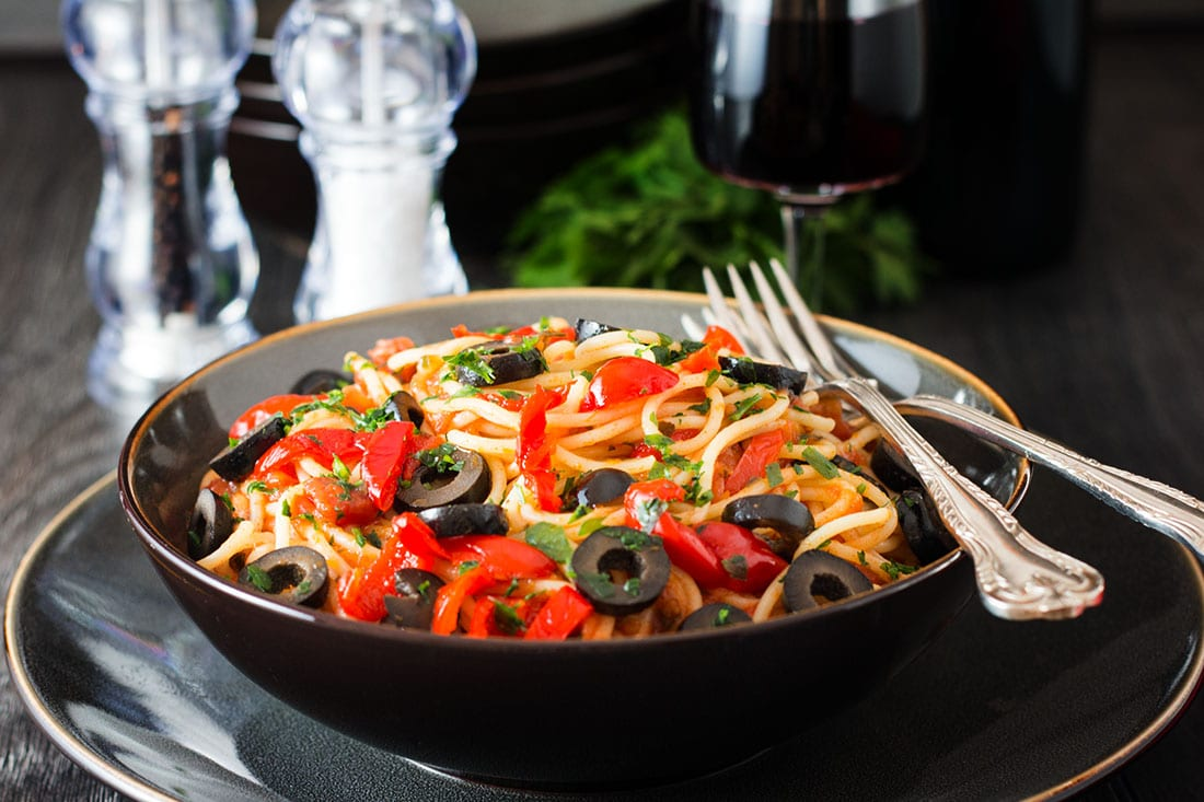 Spaghetti Alla Puttanesca - Erren's Kitchen - This recipe is a quick ...