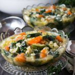 Spring Vegetable Soup - Erren's Kitchen - Welcome Springtime with this healthy, flavor-packed and satisfying soup. It's packed with plenty of spring vegetables, a kick of garlic and some pasta to make it hearty enough to be eaten as a meal.
