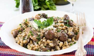 Skinny Mushroom & Barley Rissoto
