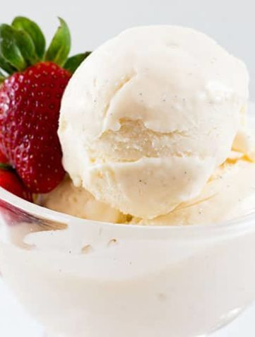 Easy No Churn Vanilla Bean Ice Cream