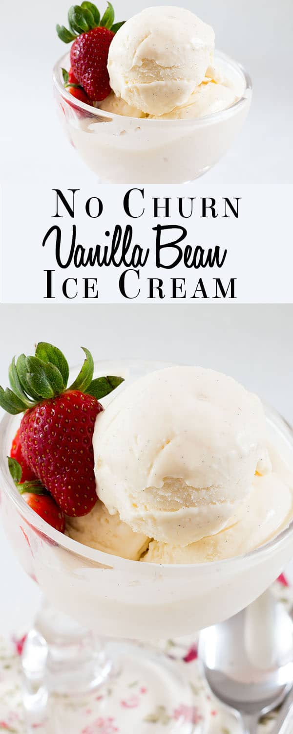 Impress your guests with this homemade, rich and indulgent ice cream recipe for No Churn Vanilla Bean Ice Cream. from Erren's Kitchen. You don't have to own an ice cream maker to easily make your own freezer friendly, delicious ice cream.