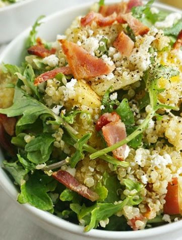 Bacon Quinoa Salad with Lemon Dijon Dressing