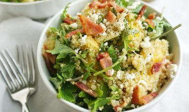 Bacon Quinoa Salad with Lemon Dijon Dressing
