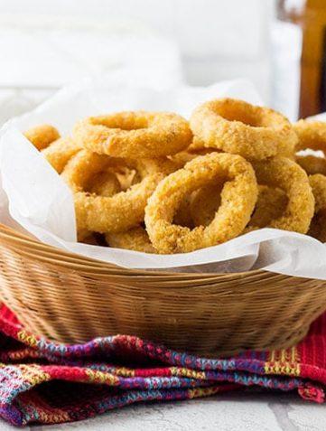 Skinny Seasoned Baked Onion Rings