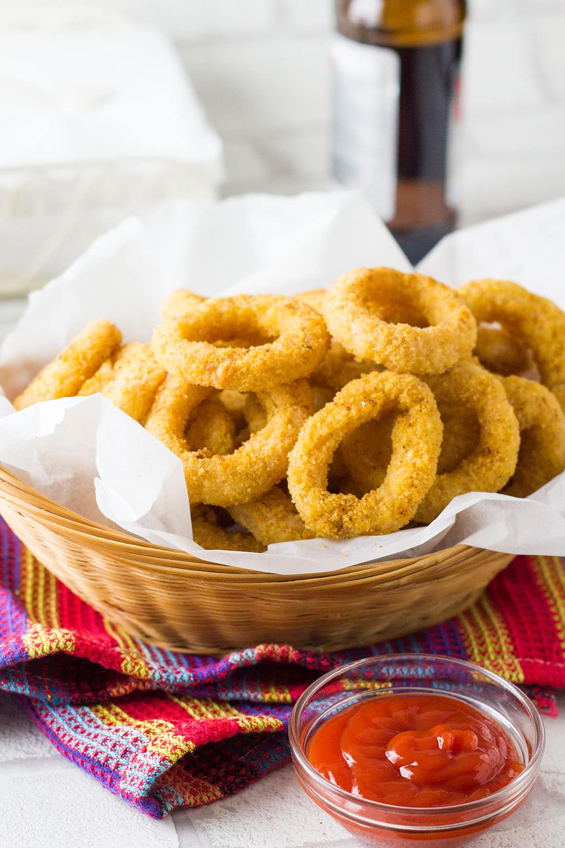 Low Calorie Baked Onion Rings