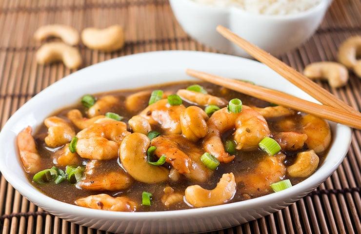 10 Minute Cashew Shrimp