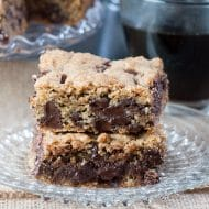 Chocolate Chip Spiced Oatmeal Cookie Bars