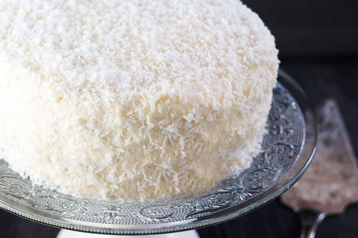 The iced back covered in shredded coconut