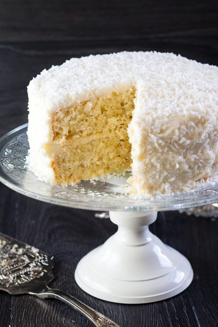 Coconut Lovers Dream Cake with Coconut Buttercream Frosting