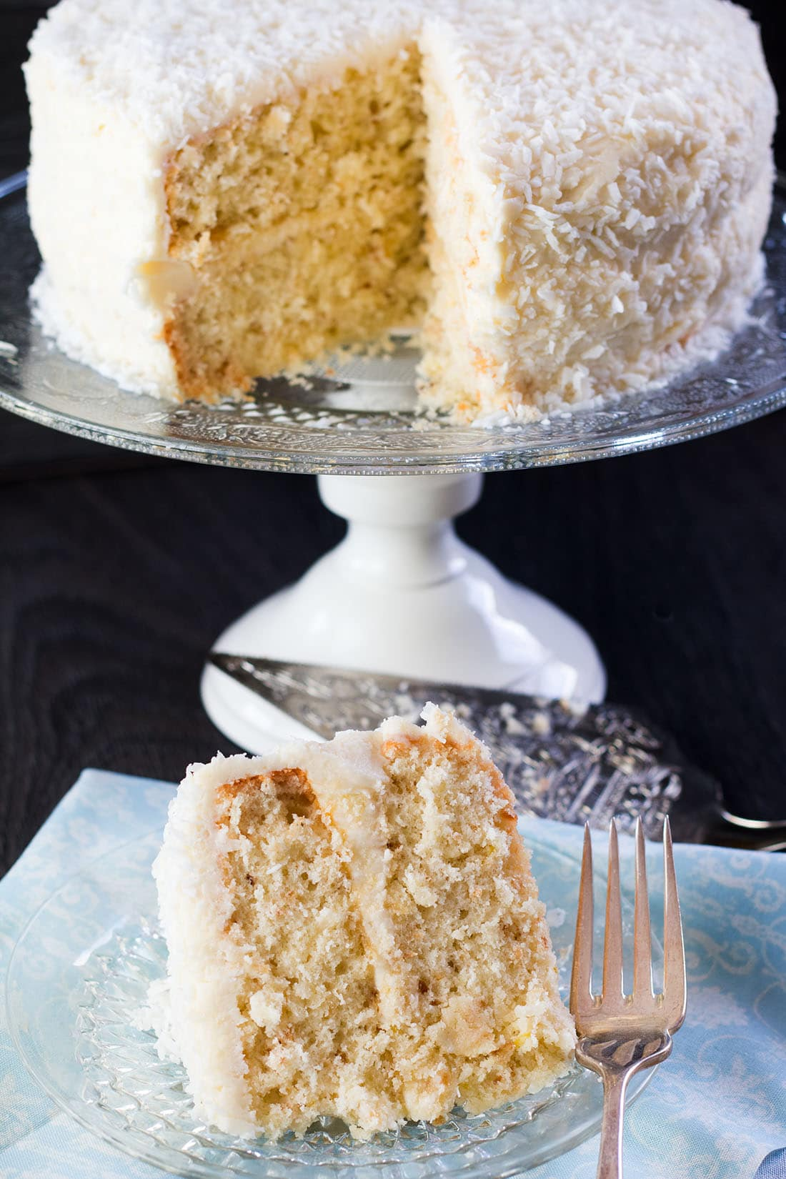 Get a triple hit of coconut with this beautiful Coconut Lovers Dream Cake recipe from Erren's Kitchen. This heavenly moist, coconut covered cake is speckled with toasted coconut and iced with a coconut buttercream that's simply divine.