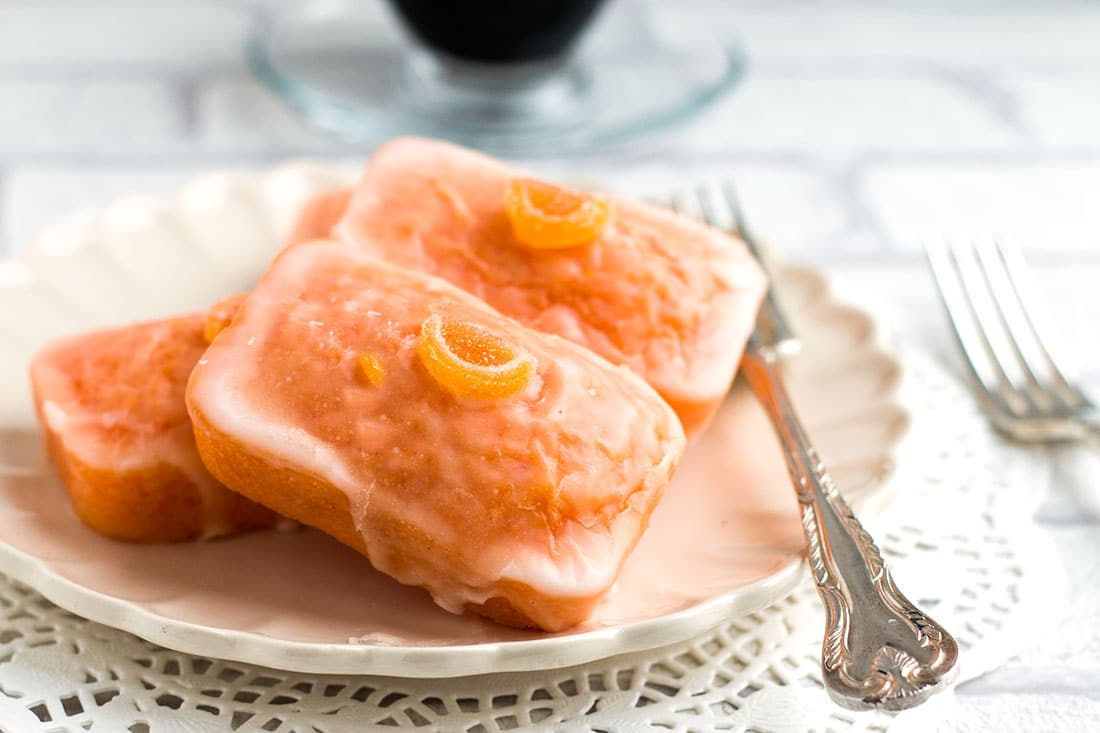 This luscious cake recipe from Erren's Kitchen for Glazed Orange Cakes is moist and light, with an extra kick of flavor from the orange zest and juice in the glaze.