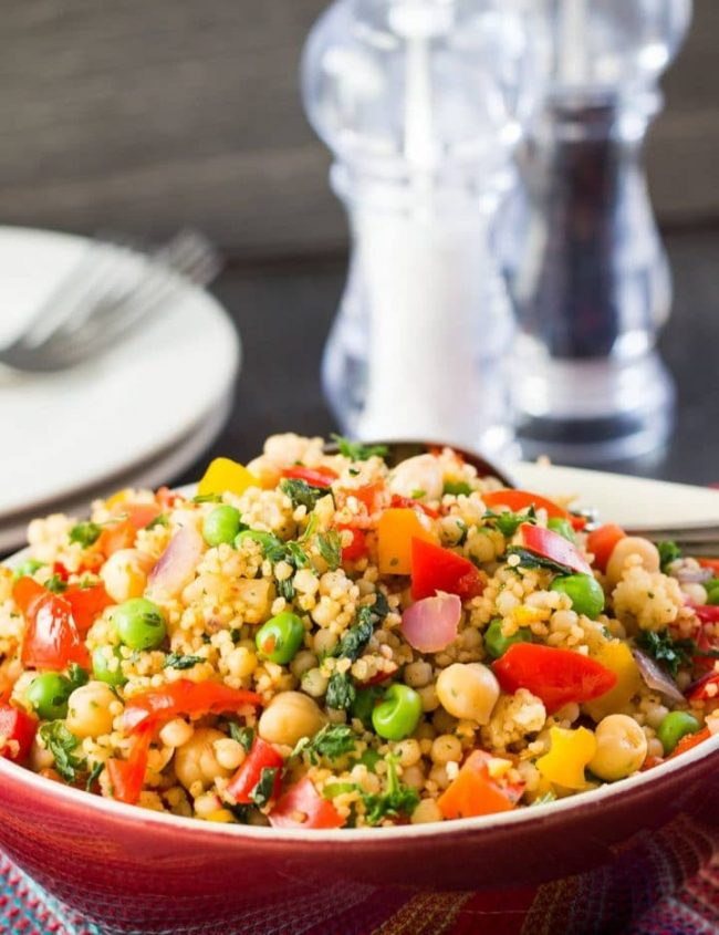 This vegetarian recipe from Erren's Kitchen for Moroccan Spiced Vegetable Couscous is delicious on its own or makes a delicious accompaniment to a tagine and any other Moroccan style dish.