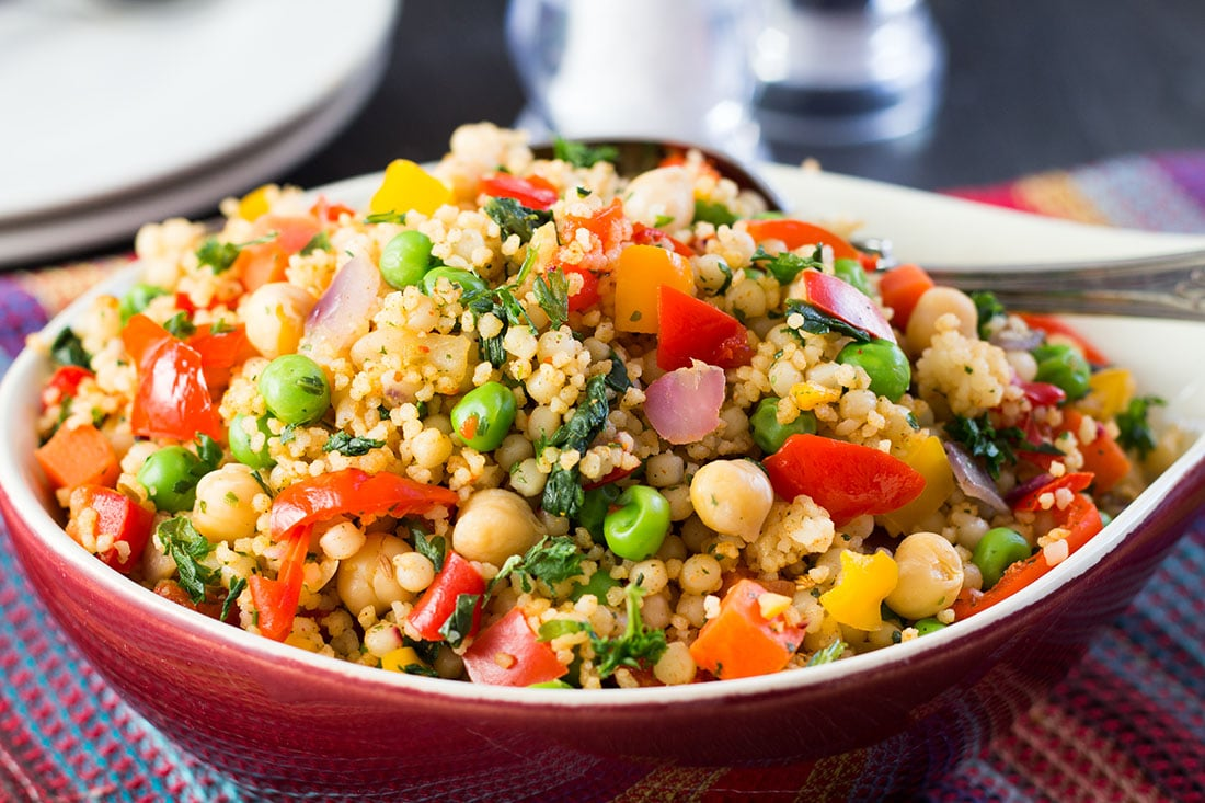Moroccan spiced vegetable couscous an easy delicious for Couscous food recipe