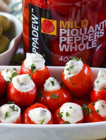 Garlic & Herb Cream Cheese Stuffed Peppadews