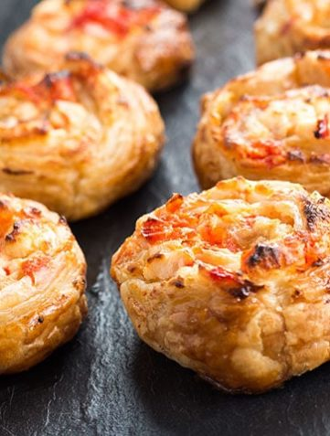 Feta & Sweet Pepper Pastry Swirls