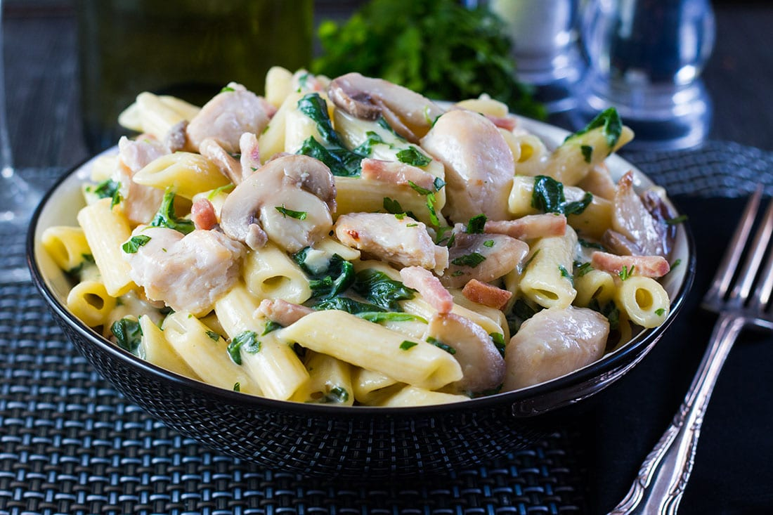 Creamy Chicken And Bacon Pasta A Delicious One Pot Meal