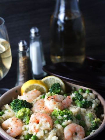 Easy Lemon Shrimp Risotto