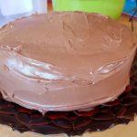 Chocolate Christmas Smash Cake - prep 10