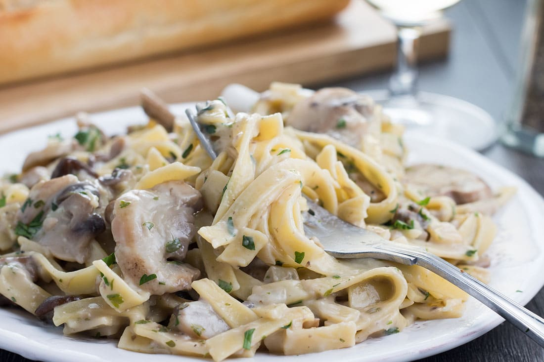 Creamy Tagliatelle and Mushrooms