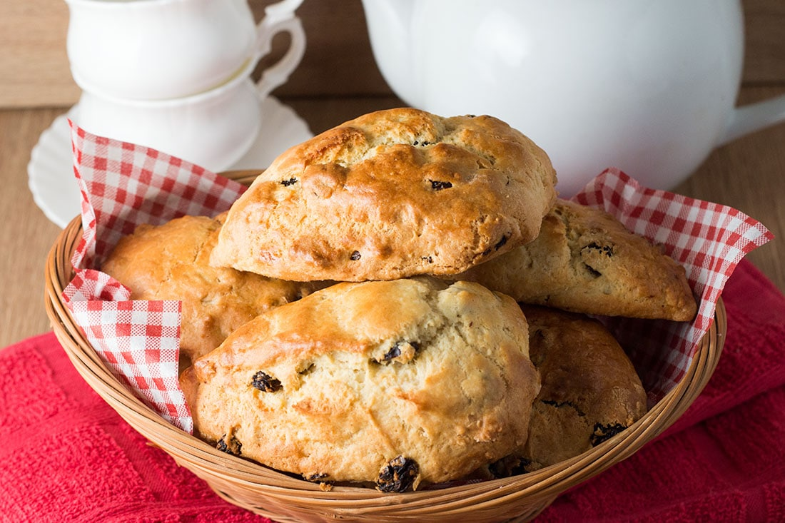 This classic British recipe for Raisin Scones are fantastic straight from the oven or split and toasted the next day.