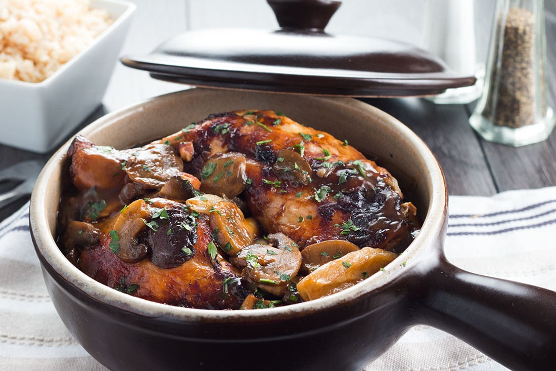 Classic Coq Au Vin Comforting And Packed With Deep Rich Flavor