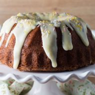 Vanilla Bean Banana Bundt Cake with Cream Cheese Icing