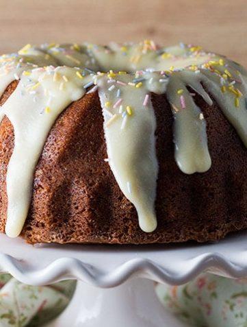Vanilla Bean Banana Bundt Cake with Cream Cheese Icing