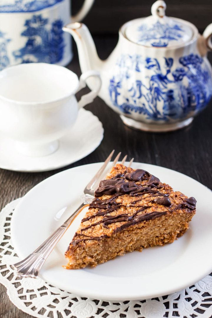 Peanut Butter Oat Bars {British Flapjacks}