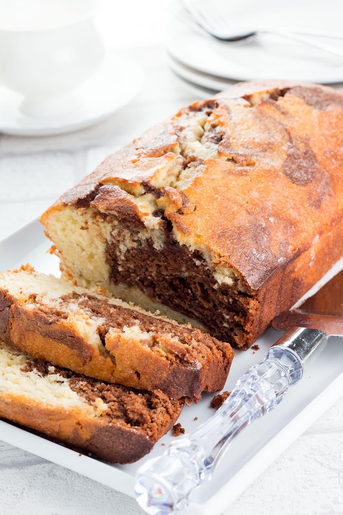Glazed Marble Pound Cake