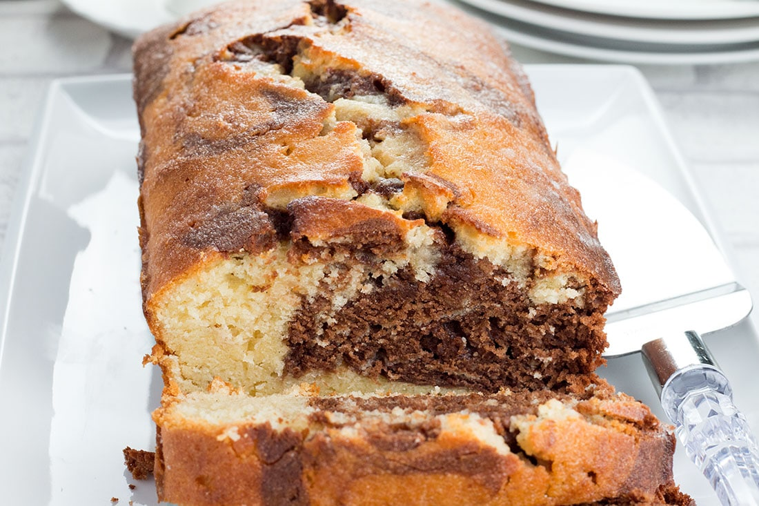 Marble Cake Recipes In Microwave: Glazed Marble Pound Cake