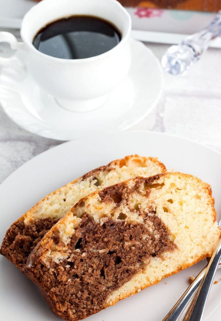 Glazed Marble Pound Cake Erren S Kitchen