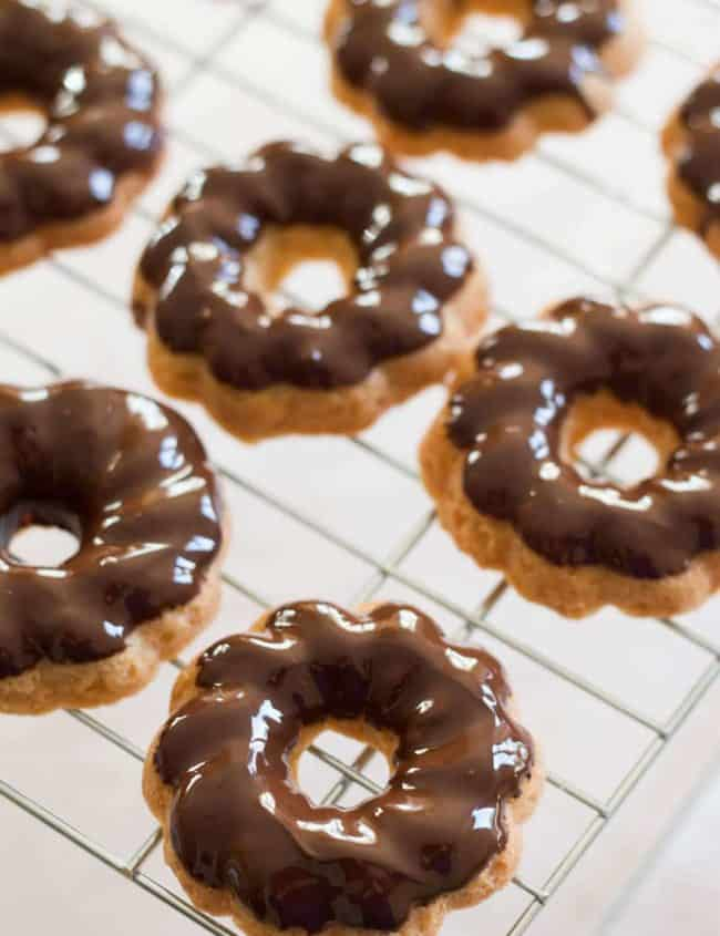 Chocolate Dipped Shortbread Cookies on a cooling rack