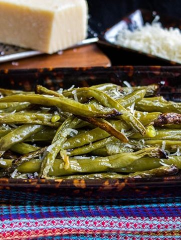Garlic Roasted Fresh Green Beans