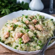 Easy Salmon and Pea Risotto