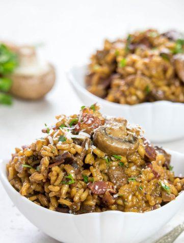 Easy Mushroom & Bacon Risotto