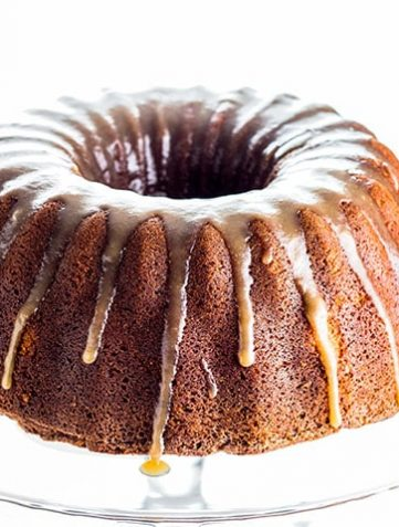 Brown Sugar Bundt Cake with Caramel Glaze